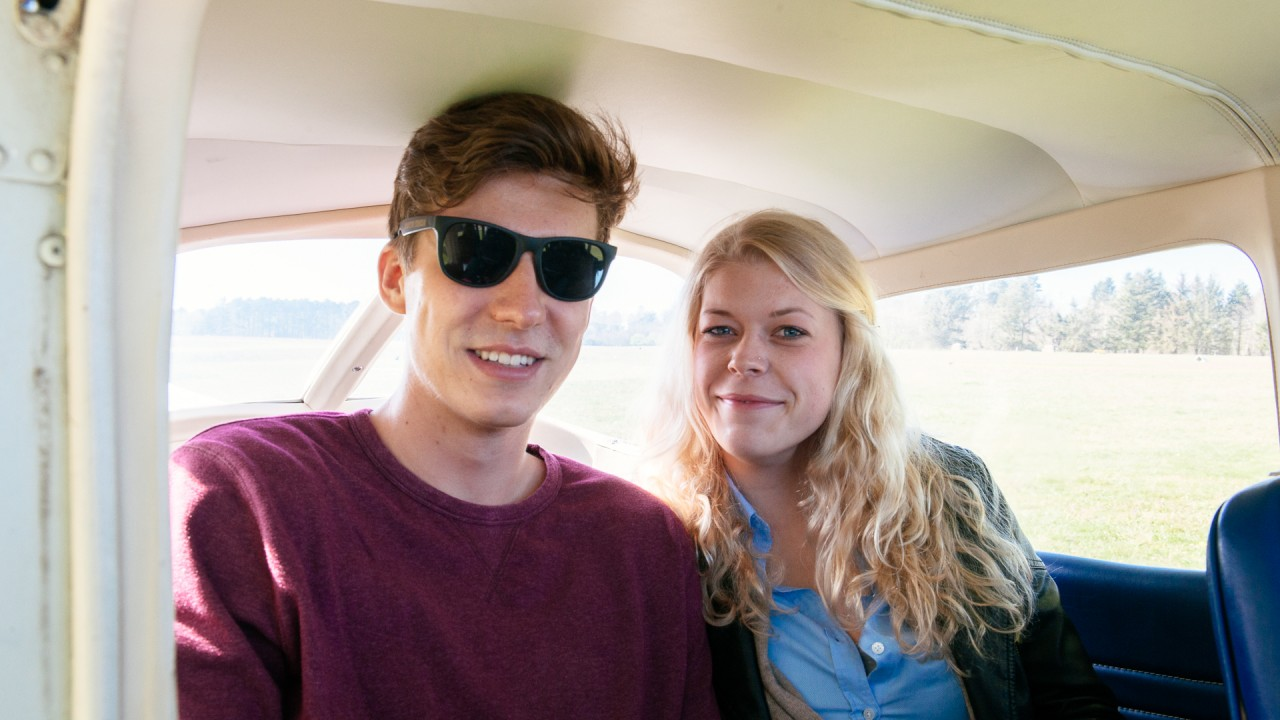 Westküstenflug Passagiere